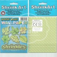 Plástico Mágico SHRINK ART 6 láminas estampadas de 13,1x10,1 cm Verde Pastel Green