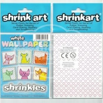 Plástico Mágico SHRINK ART 6 láminas estampadas de 13,1x10,1 cm Blanco
