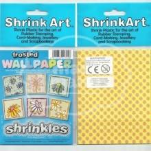Plástico Mágico SHRINK ART 6 láminas estampadas de 13,1x10,1 cm Amarillo