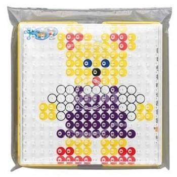 """Blister Hama Beads Maxi """"Marco y Placa Cuadrada + 10 diseños"""""""