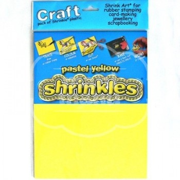 Plástico Mágico SHRINKLES CRAFT 6 láminas de 26,2x20,2 cm Amarillo Pastel