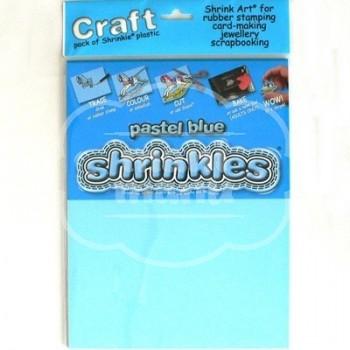 Plástico Mágico SHRINKLES CRAFT 6 láminas de 26.2x20,2 cm Azul Pastel