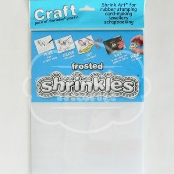 Plástico Mágico SHRINKLES 6 láminas de 26,2x20,2 cm Frosted (Glaseado)
