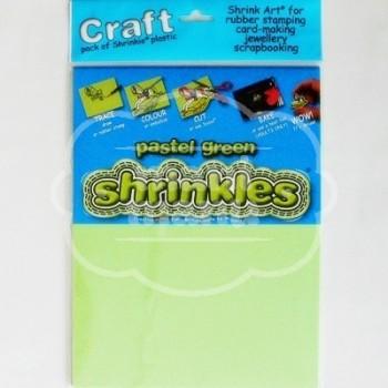Plástico Mágico SHRINKLES CRAFT 6 láminas de 26.2x20,2 cm Verde Pastel