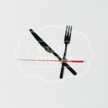 Juego de Agujas Cocina color negro 80 mm con Segundero Rojo