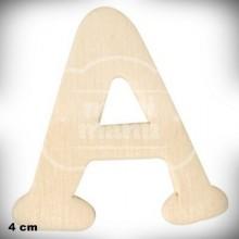 Letra A de Madera de 4 cm