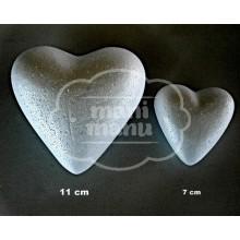Corazón de porex 7 x 7