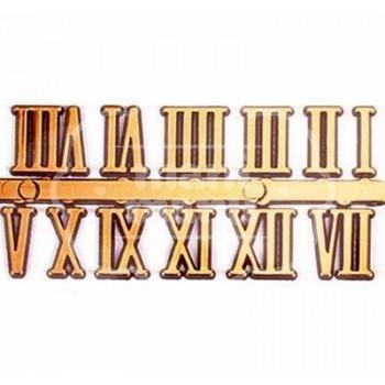 Números Romanos Dorados de 10 mm