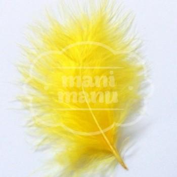 Pluma de Marabú Amarilla