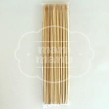 Palillo cilíndrico de madera natural