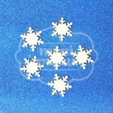 Copo de Nieve Goma Eva Purpurina Blanco