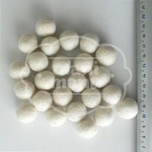 Bolas de fieltro 15mm Blanca