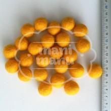 Bolas de fieltro 15mm Amarillo