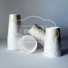 Vaso de papel círculos