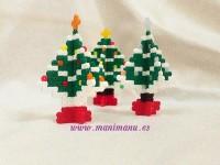 Árbol de navidad en 3D con hama beads